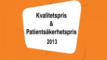ÖKV Play - 2013 års kvalitets- och patientsäkerhetspris inom Landstinget Kronoberg