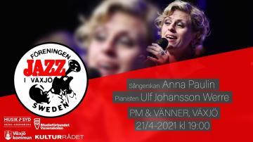 Jazz i Växjö: Anna Pauline Andersson och Ulf Johansson Werre