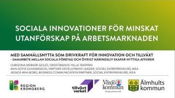 Sociala innovationer för minskat utanförskap på arbetsmarknaden - Yalla Trappan & IKEA
