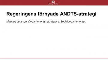 REGERINGENS FÖRNYADE ANDTS-STRATEGI