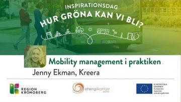 Inspirationsdag - Hur gröna kan vi bli?, Mobility management i praktiken
