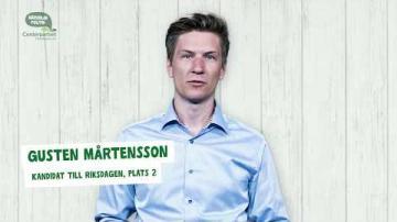 Val 2018 - En presentation av Gusten Mårtensson (C)