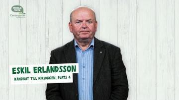 Val 2018 - Fem snabba frågor till Eskil Erlandsson (C)