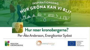 Inspirationsdag - Hur gröna kan vi bli?, Hur reser Kronobergarna?
