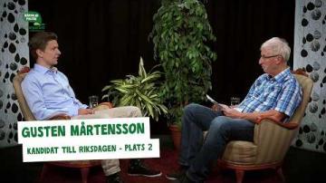 Val 2018 - Intervju med Gusten Mårtensson (C), del 3