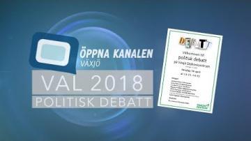 VAL 2018: Politisk debatt på Växjö Diakonicentrum