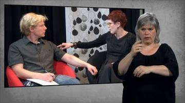 Teckenspråket som väcker nyfikenhet, teckentolkad