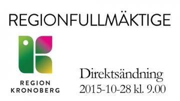 Regionfullmäktige 28 oktober 2015